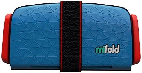 mifold Grab and Go Booster Seat Denim Blue