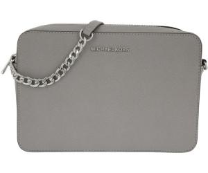 Michael Kors Large Ew Crossbody Bag Pearl Grey in grau