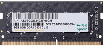 Image of Apacer 8GB SODIMM DDR4-2400 CL17 (AS08GGB24CEYBGH)