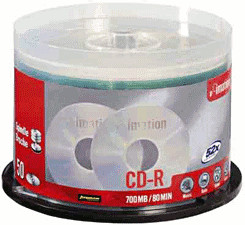 Image of Imation CD-R 700MB 80min 52x 50pk Spindle