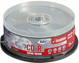 Image of Imation CD-R 700MB 80min 52x 25pk Spindle