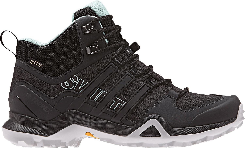 adidas Terrex Swift R2 Mid GTX W, Zapatillas de Marcha Nórdica para Mujer, Negro Core Black/Ash Green 0, 38 EU