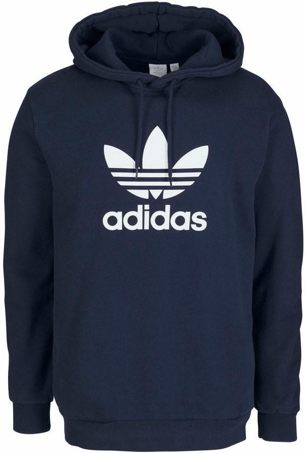 Adidas Originals HOMBRE Trébol Sudadera con Capucha sin Cremallera Rosa Cómodo