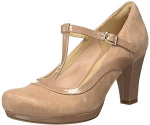Clarks Pumps CHORUS PITCH Damen Schuhe Beige Veloursleder