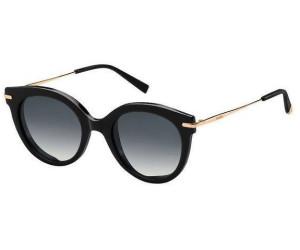 Womens mm Needle VI 9O 2M2 Sunglasses, Black Gold/Grey, 50 Max Mara