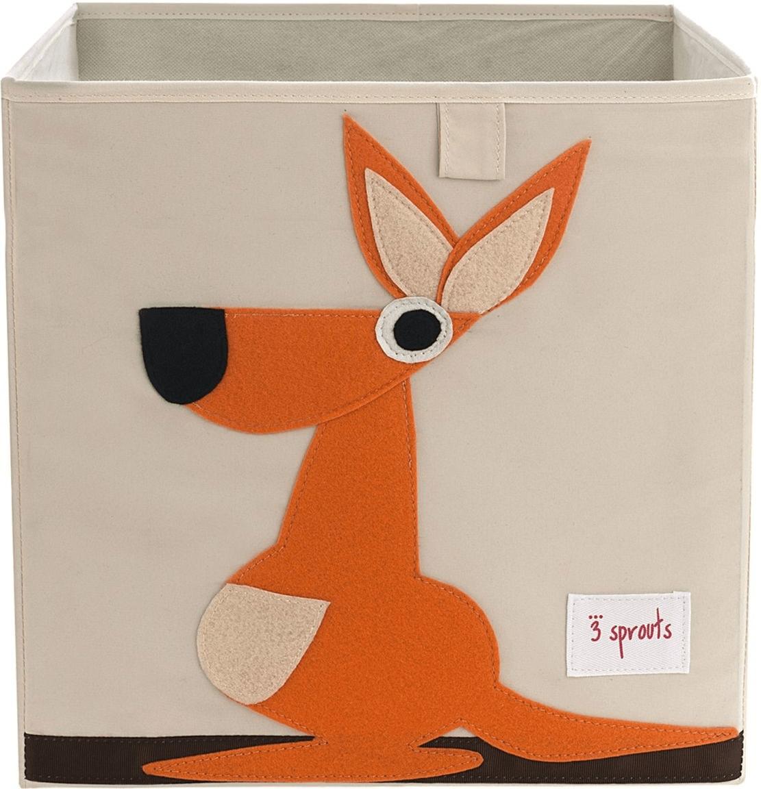 3 Sprouts Aufbewahrungsbox 33x33x33cm Känguru