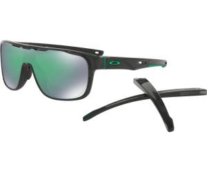 Oakley Crossrange Shield, Sonnenbrille Prizm Schwarz Grün-Verspiegelt (Jade)