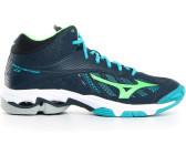 new products 2b532 fddee Mizuno Wave Lightning Z4 MID dress blues green gecko peacock blue