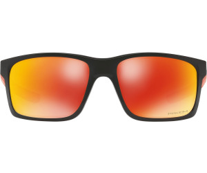 Oakley Herren Sonnenbrille Mainlink 926435, Schwarz (Polished Black/Prizmrubypolarized), 57