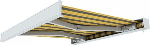 Paramondo Line 5x3 m weiß-gelb-grau