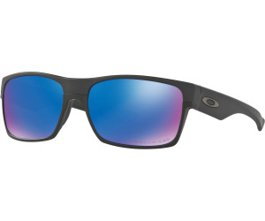 Oakley TwoFace, Sonnenbrille polarisierend Matt-Schwarz Blau-Verspiegelt (Sapphire)