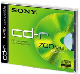 Sony CD-R 700MB 80min 48x 1er Jewelcase