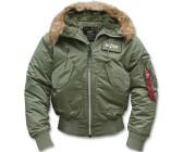 Alpha industries herren daunenjacke mantel 45p hooded
