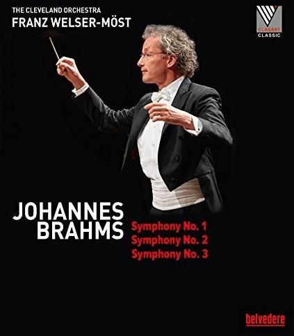 Image of Brahms: Symphonies 1, 2 & 3 [The Cleveland Orchestra; Franz Welser- Möst ] [Belvedere: BVE08011] [Blu-ray]