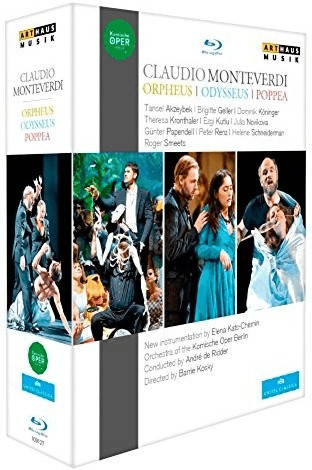 Image of Monteverdi:Orpheus/Odysseus [Orchestra and Chorus of the Komische Oper Berlin,Andre de Ridder] [ARTHAUS : BLU RAY] [Blu-ray]