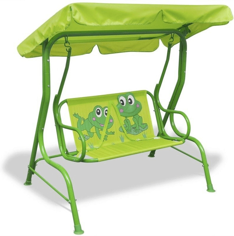VidaXL Hollywoodschaukel grün Froggy (41841)