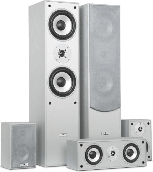 Auna Surround Speaker Set Home Cinema 335W silver