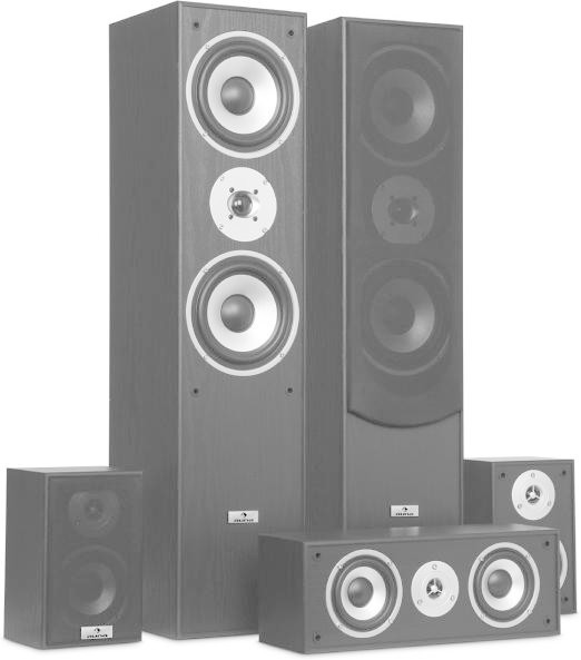 Auna Surround Speaker Set Home Cinema 335W black