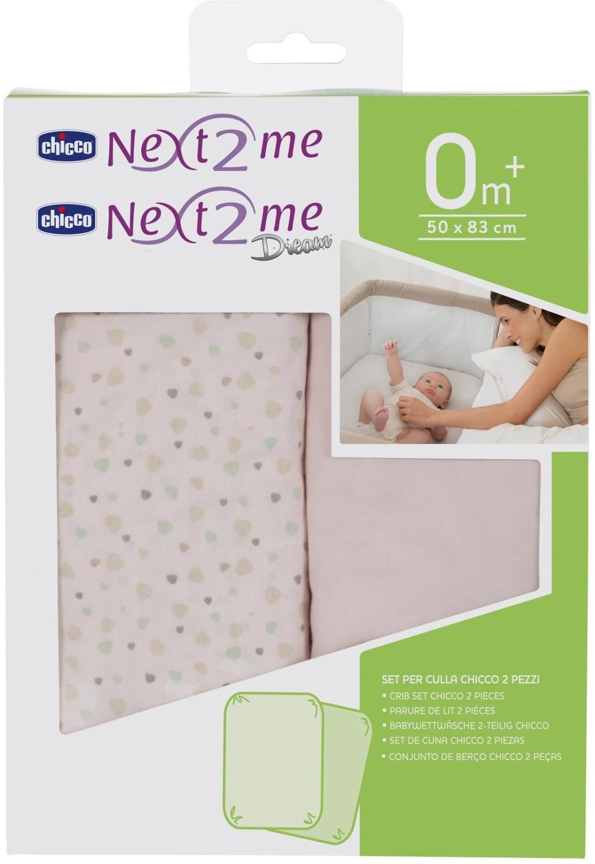 hergestellt in Italien Bianco//Panna kompatibel mit Chicco Next2Me 50 x 83 cm 100 /% Baumwolle 2 St/ück Giovanni Dolcinotti Baby Collection Spannbettlaken