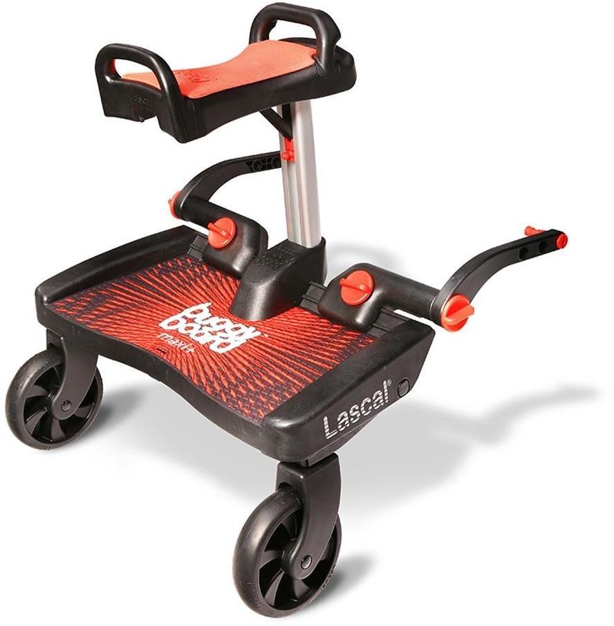 Lascal BuggyBoard Maxi Plus mit Sattel Rot
