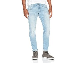 G-Star 3301 DESCONSTRUCTED SUPER SLIM - Vaqueros pitillo - light-blue denim MjkXXjzteN