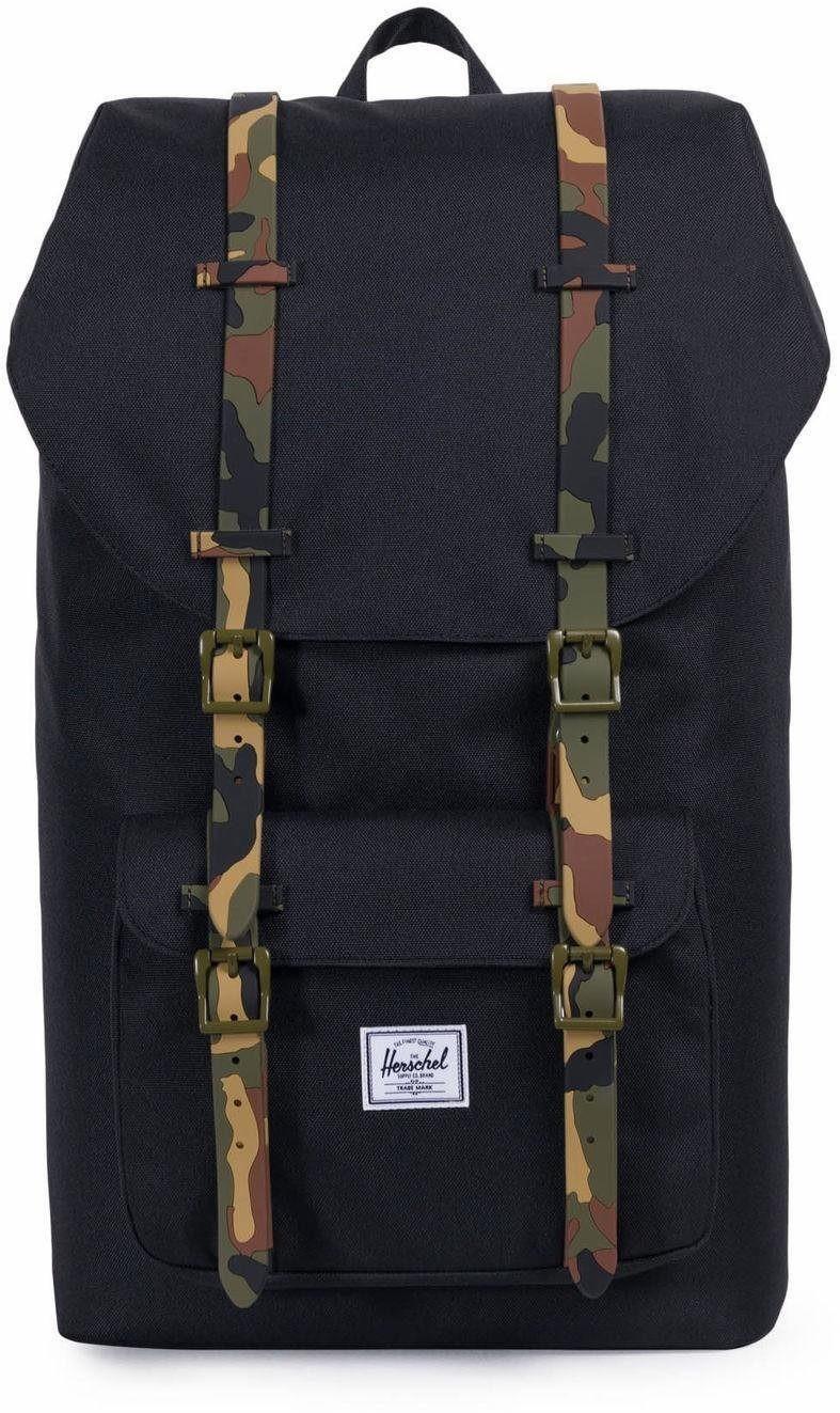 Herschel Little America Backpack black/woodland camo rubber