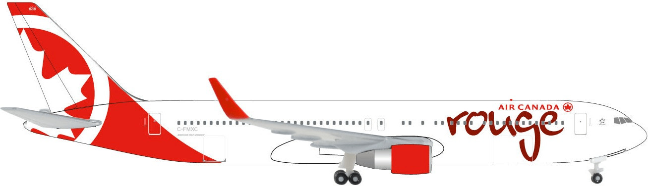 Herpa Air Canada Rouge Boeing 767-300 (C-FMXC)