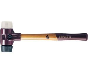 SIMPLEX-Schonhämmer mit Stahlgussgehäuse und Holzstiel Ø=40 mm