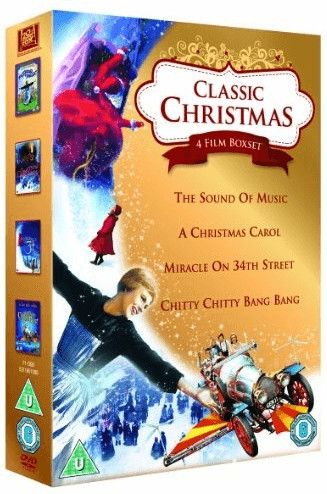 Image of Classic Christmas 4 Film Collection: The Sound of Music, A Christmas Carol, Miracle on 34th Street & Chitty Chitty Bang Bang [DVD] [1965]