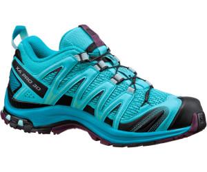 Salomon Xa Pro 3D Damen Traillaufschuhe, Grau/Türkis (Quarry/Pearl Blue/Aruba Blue), 40 EU