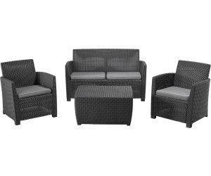 Allibert Corona Lounge 4-tlg. 4-Sitzer mit CUSHIONBOX anthrazit ab ...