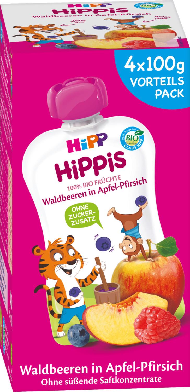 Hipp Quetschbeutel Hippis Waldbeeren in Apfel-P...