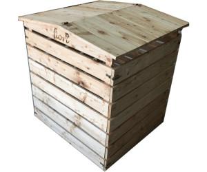 Gardenlife Komposter Holz Massiv Klappdeckel Ab 94 95