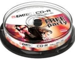 Emtec CD-R 700MB 52x 10stk Spindel