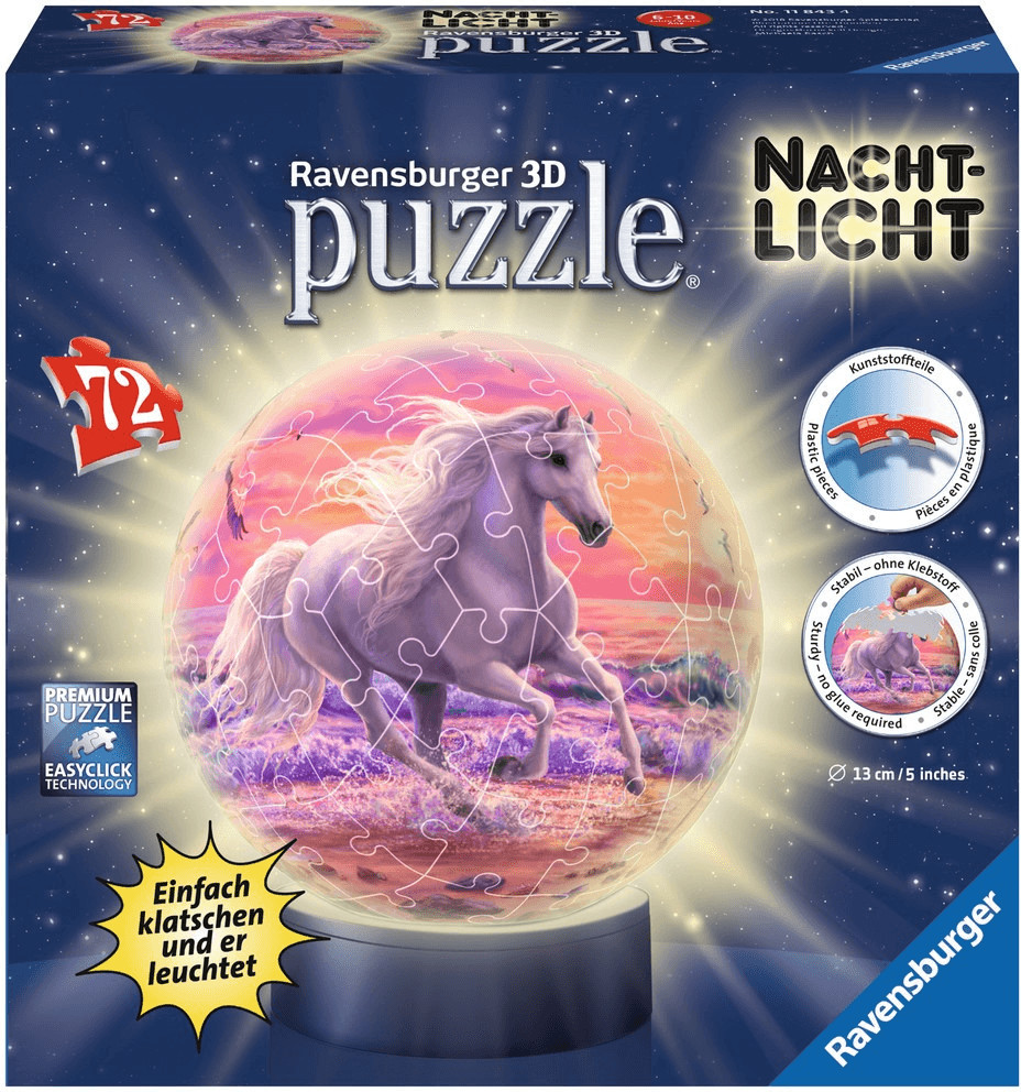 Ravensburger Nachtlicht Pferde am Strand