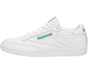 ad7c186ad654af Buy Reebok Club C 85 intense white green from £51.24 – Best Deals on ...
