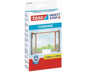 tesa® Insect Stop Fliegengitter Klett Comfort Fenster 1,2 x 2,4 m weiß