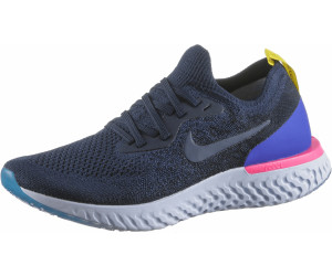 Nike Epic React Flyknit college navy/racer blue/pink blast/college ...
