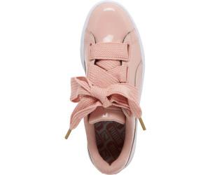 Puma Schuhe Patent Heart Basket Schleife Peach Beige Gold