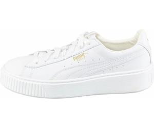 puma basket platform bianche donna