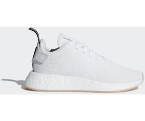 adidas Originals Herren NMD_R2, Crystal White/Black, 41 EU