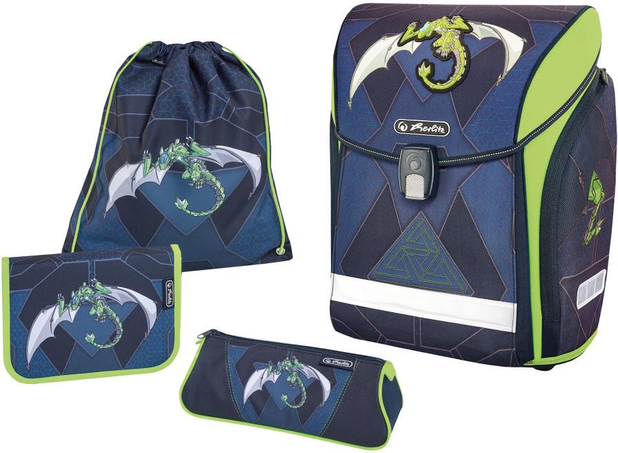 9f3d2e201 Midi Plus Robo Dragon juego de mochila escolar Niño Verde, Marina, Cartera  de escuela