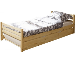 Ticaa einzelbett nadine kiefer massiv ge lt inkl schubkasten ab 125 28 preisvergleich bei - Schubkasten einzelbett ...