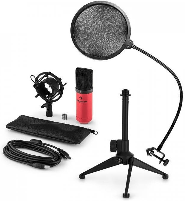 Auna MIC-900RD-LED V2 Microphone-Set