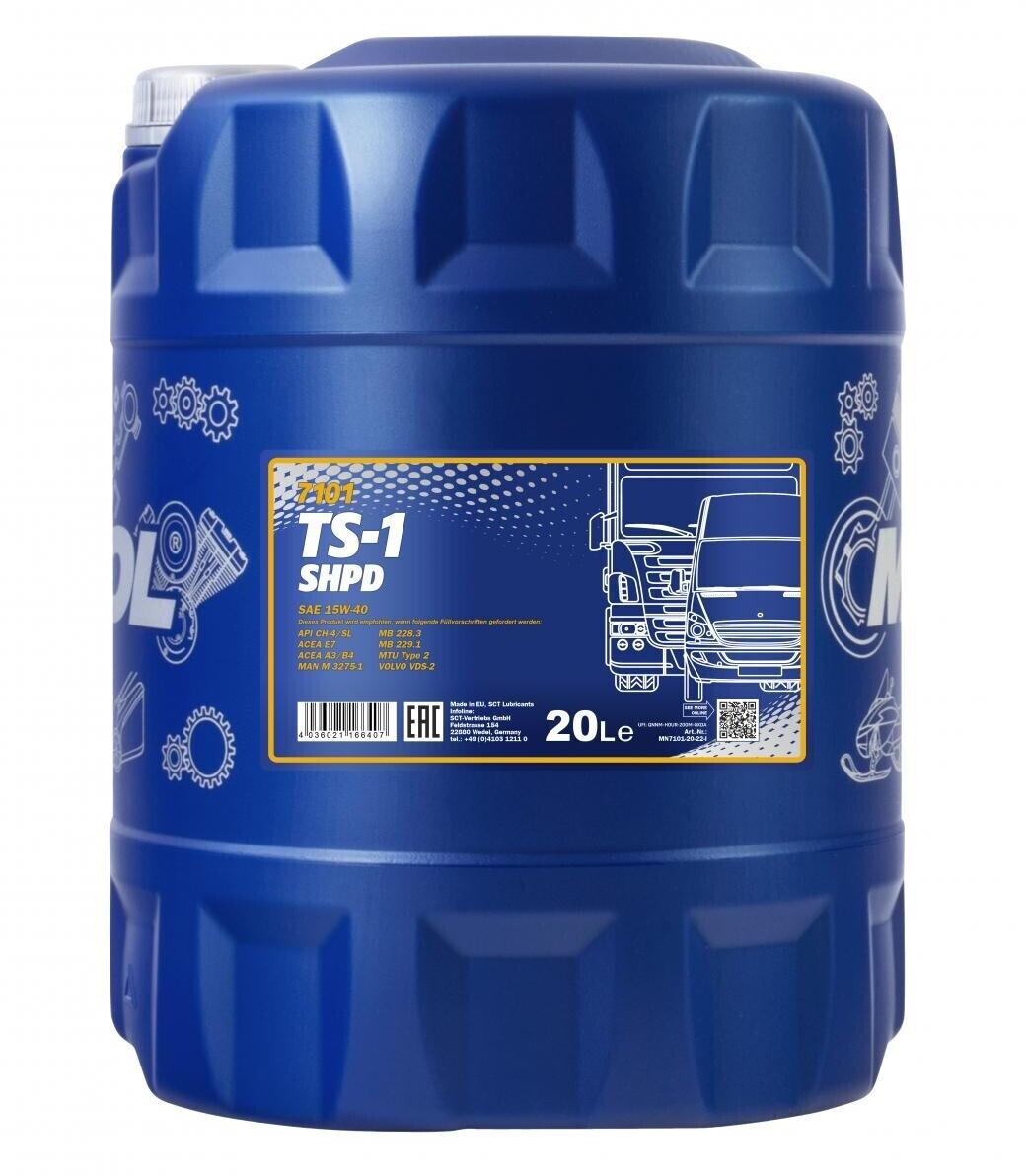 Mannol TS-1 SHPD 15w-40 (20 l)
