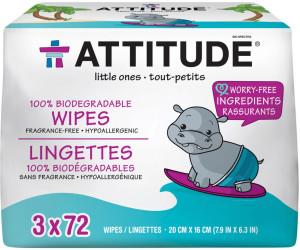 Attitude Eco Feuchttücher (3 x 72 Stk.)