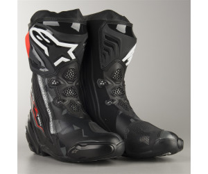 Alpinestars Bottes moto Supertech R Black Dark Gray Red Fluo 44 Noir//Gris//Rouge