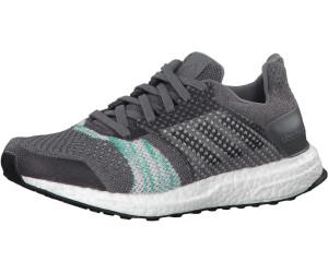 Adidas Ultra Boost ST W crystal white/core black/aero green ...