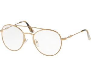 PRADA Prada Damen Brille » PR 55UV«, goldfarben, 7OE1O1 - gold