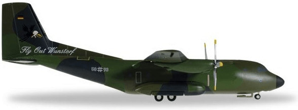 Herpa Luftwaffe Transall C-160 LTG 62 Flyout Wu...